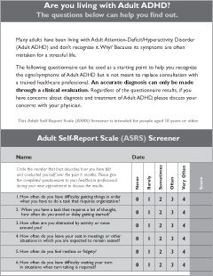 Adult Add Screening Test 82