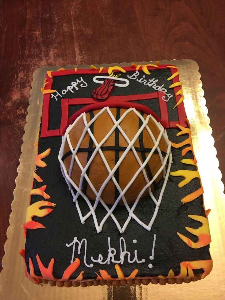 Miami Heat basketball cake