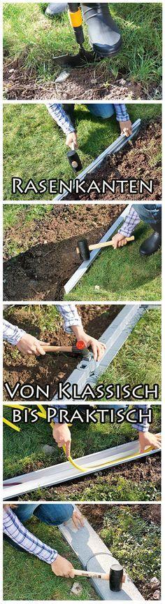 Rasenkanten geben Beet und Rasenfläche einen Rahmen. Und wenn gewünscht, kann die Kante sogar funktionell sein. Wir zeigen verschiedenen Versionen für deinen Garten und wie diese eingebaut werden.