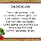On ANZAC Day a special Ode is read out. This resource provides the Ode written in its entirety on the first page and then an activity where student...