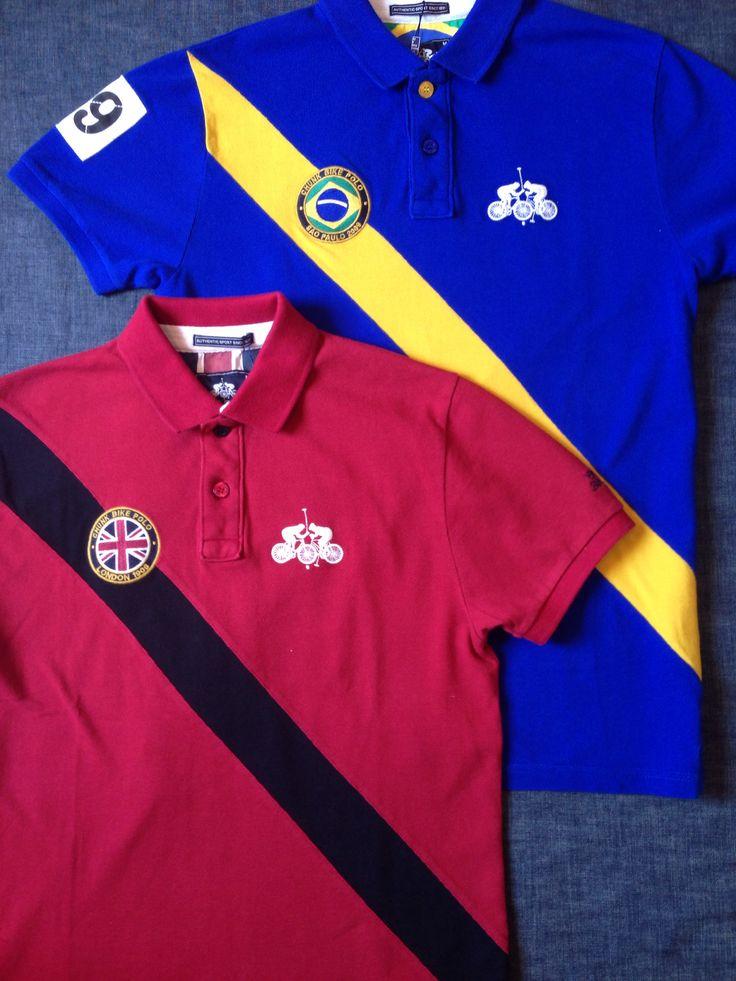 チャンクからバイクポロのGB ポロシャツ(レッド)ブラジル ポロシャツ(コバルト)が入荷しました。本体価格¥11,000