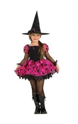 Disfraz de bruja mágica niña con luz