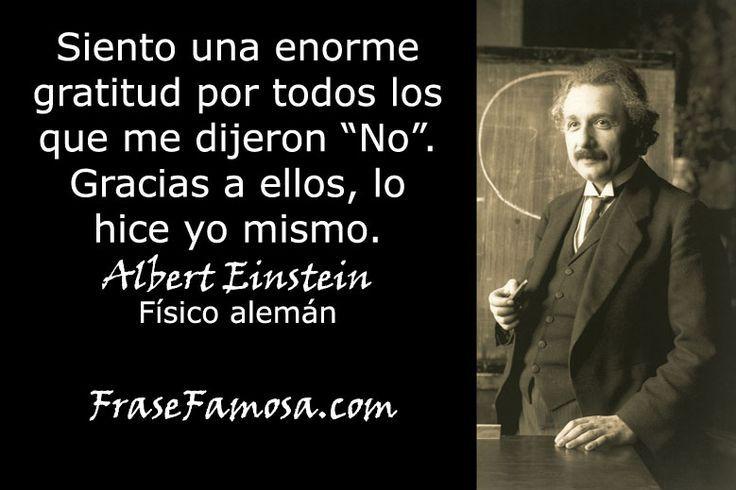 Frases de Albert Einstein - Frases de Gratitud - Frase Famosa ...