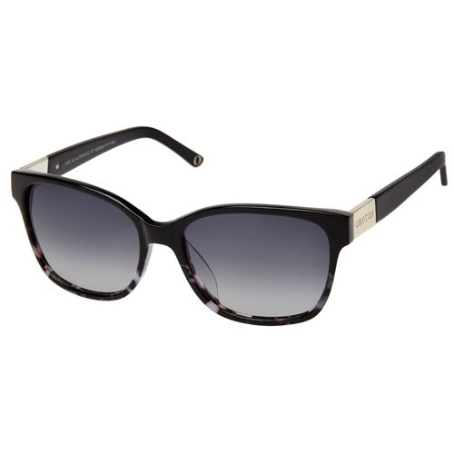 Oroton Lao V2 Sunglasses. These Sunglasses Have Black Tortoiseshell Frames With Black Arms And A Hint of Metal. They Add A Hint Of Intrigue To Your Look.