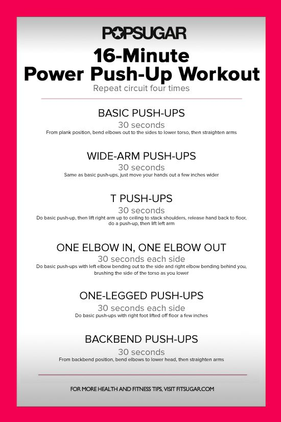 16 Minutes Closer to Buff Arms: Push-Up Workout