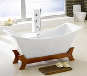 RYUKYU ASIAN INSPIRED FREE STANDING SMALL BATHTUB & FAUCET bathtubs large bath tubs $1,000 + $385 S from CA