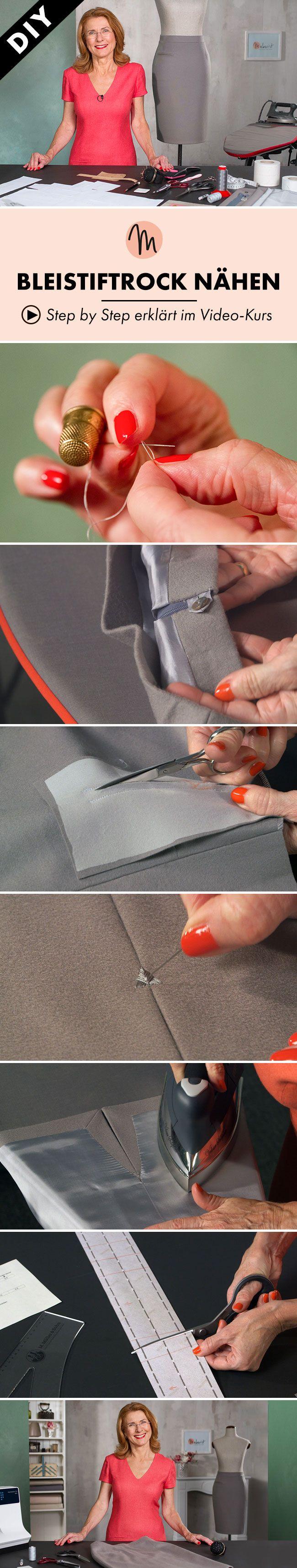 Einen Bleistiftrock nähen mit Inge Szoltysik-Sparrer - Step by Step erklärt im Video-Kurs via Makerist.de