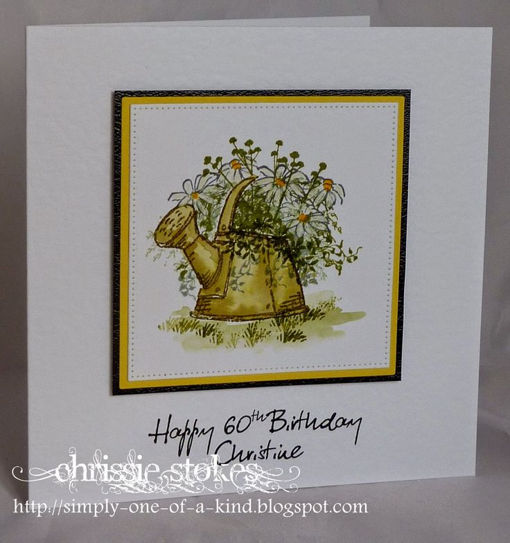 art impressions - watercolor stamping