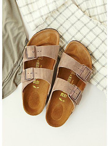 Birkenstock Arizona Sandal | Taupe Suede | Size 7-7.5