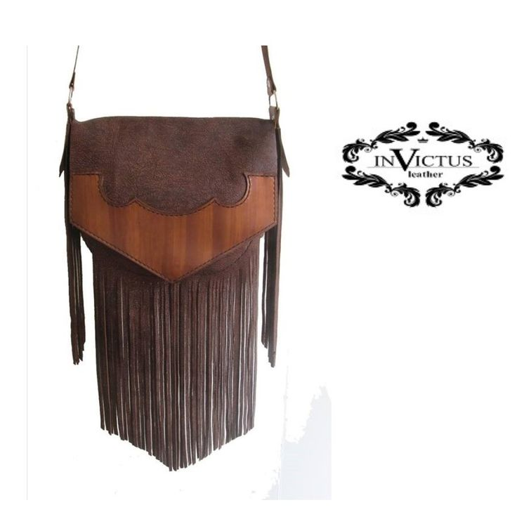 DARK BROWN LEATHER  TASSEL BAG  http://www.angelicfeathers.co.za/products/dark-brown-leather-tassel-bag  #hand-dyed #hand-stitched #handmadeleatherbag