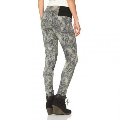 38 42 Jeans Leggings schwarz grau bedruckt Gr Kleidung