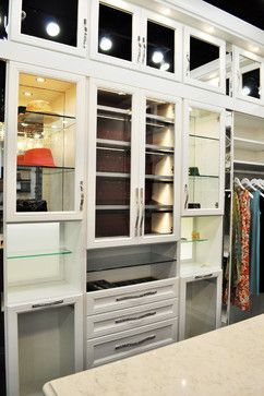 Belissima White Master Closet Love The Lighted Cabinets.