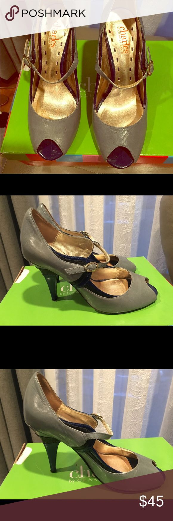 Charles by Charles David Brava Navy Heels Charles by Charles David Brava pumps in Navy/grey Charles by Charles David Shoes Heels