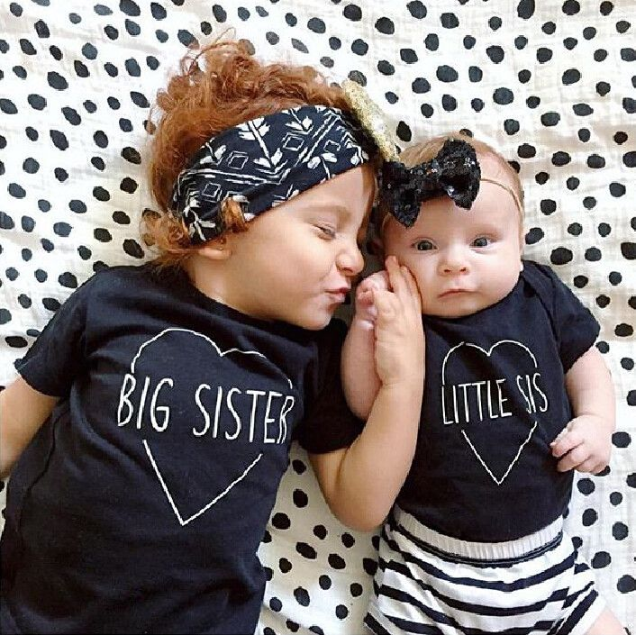 2016 новинка дети футболка мальчиков одежда для девочек большой Bro сестра TShirt лучших летом с коротким рукавом свободного покроя ребенок топы рубашка купить на AliExpress