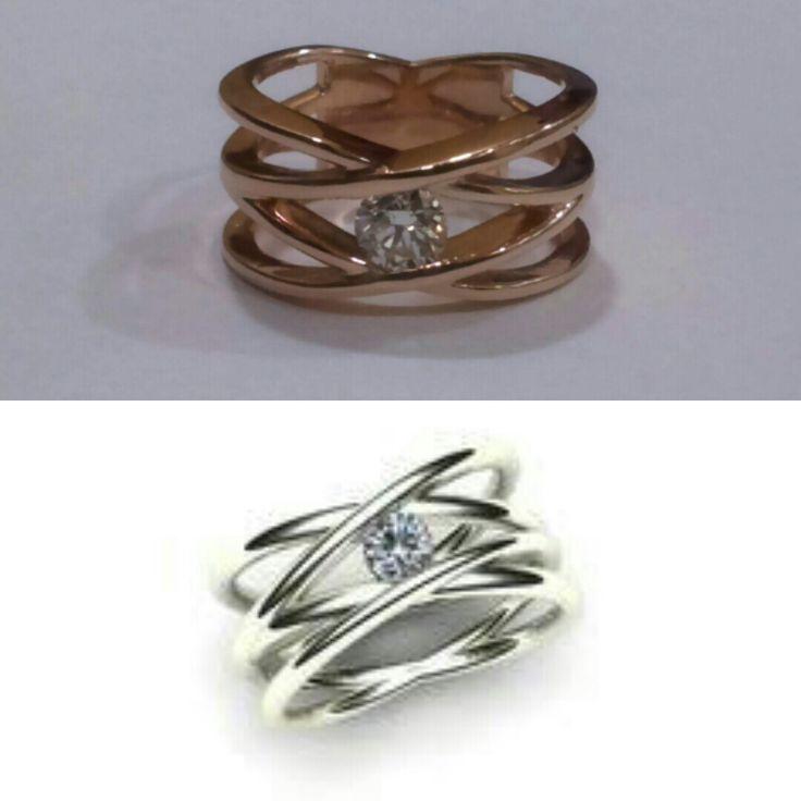 Choose your #style  #rosegold or #platinum  #designer #jewelry pieces  #diamondring
