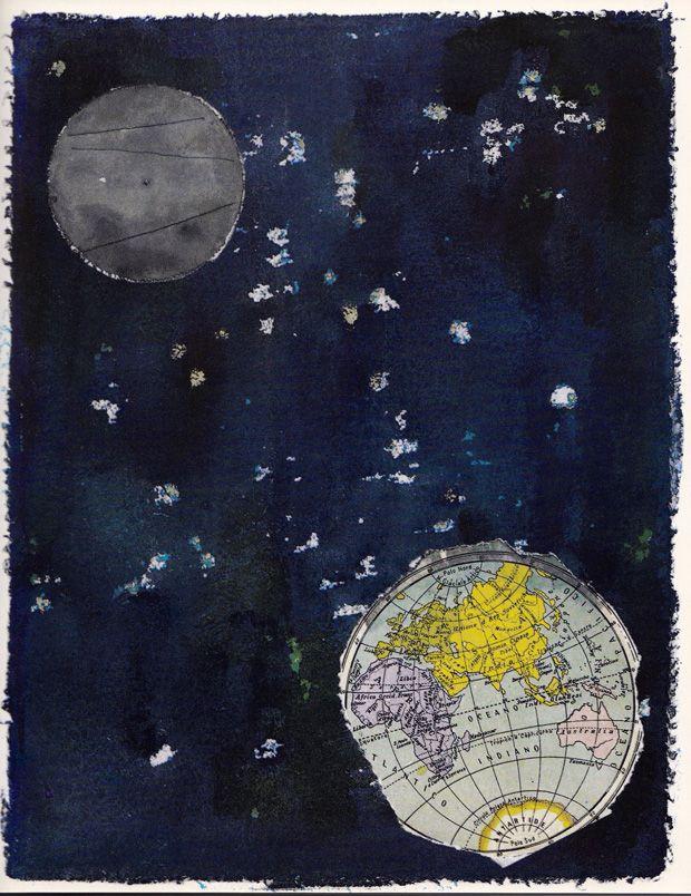Eugenio Carmi, illustration for Umberto Eco's The Three Astronauts