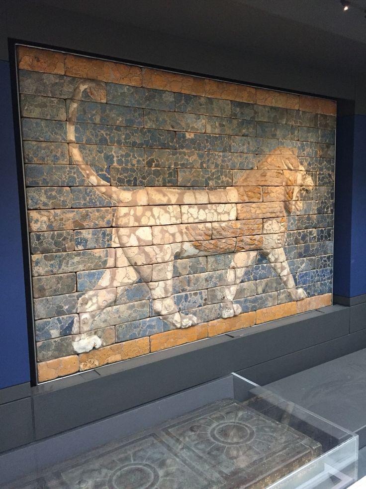 The Lion at Nebuchadnezzar's Ishtar Gate, Babylon.  Photo taken at the British Museum. #Mesopotamia #Babylon #history #Iraq