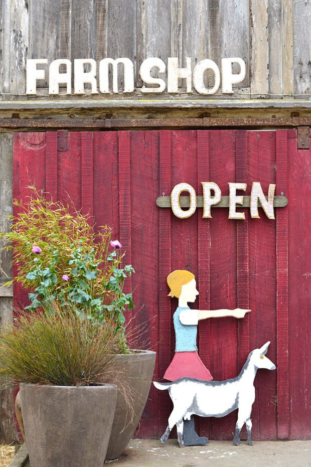Harley Farms in Pescadero, California via the Spotted SF blog.
