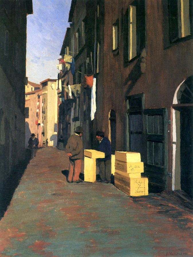Félix Vallotton / Alte Straße in Nizza
