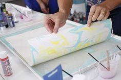 Tutorial: Como hacer papel marmoleado 14                              …