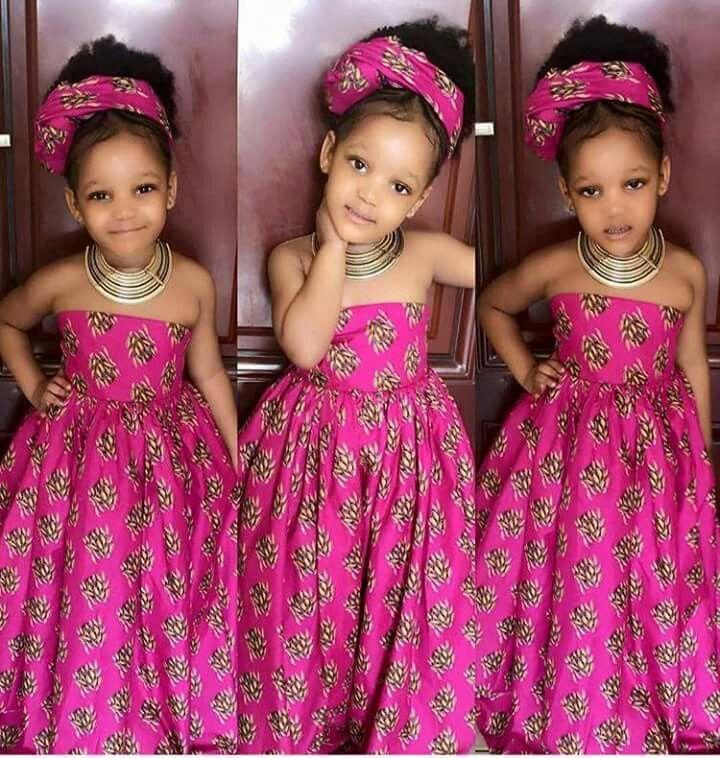 Longue robe pagne fillette