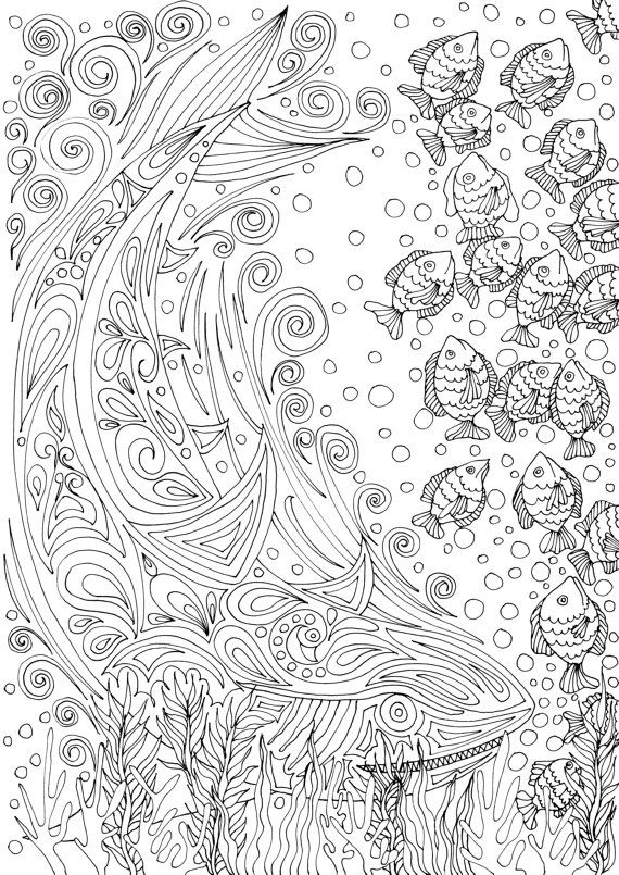 adult coloring book printable coloring pages by joenayinspirations if youre in - Watercolor Pages