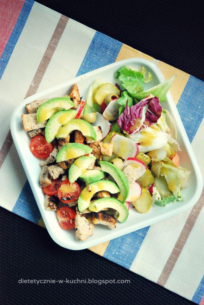 Moje Dietetyczne Fanaberie: Sałatka z kurczakiem i awokado