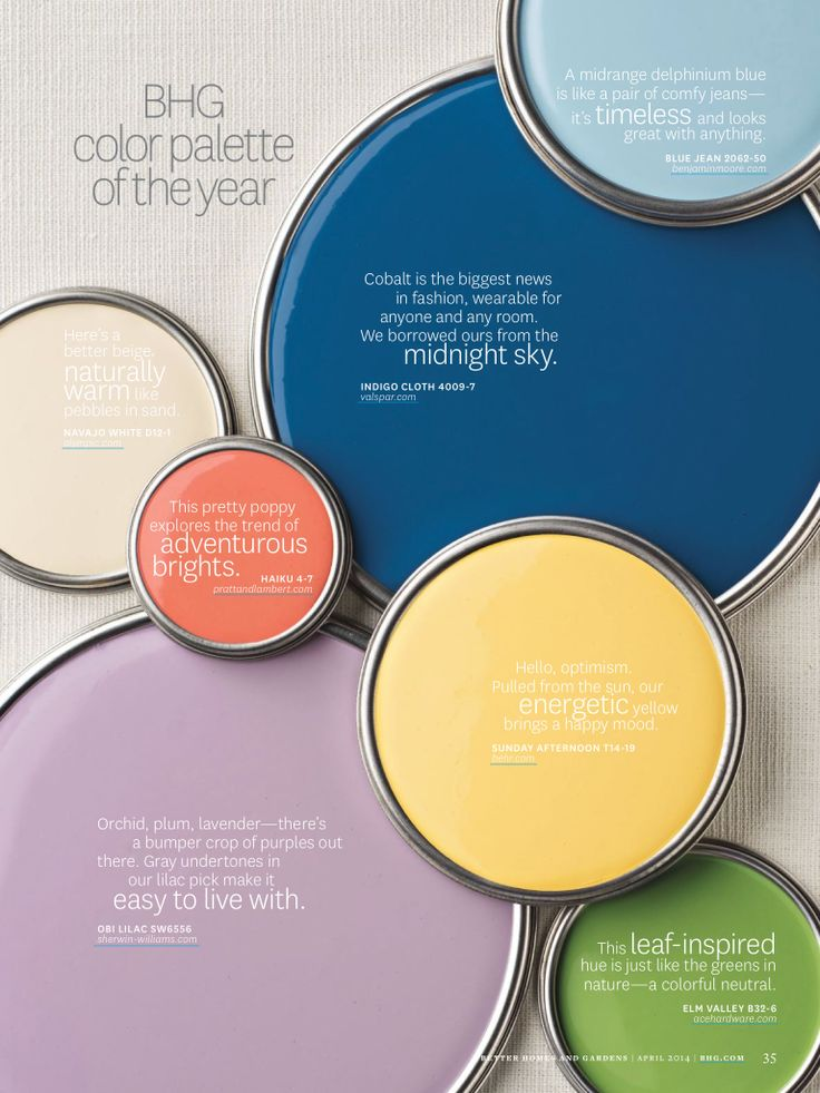 Better Homes And Gardens April 2014 Paint Samples