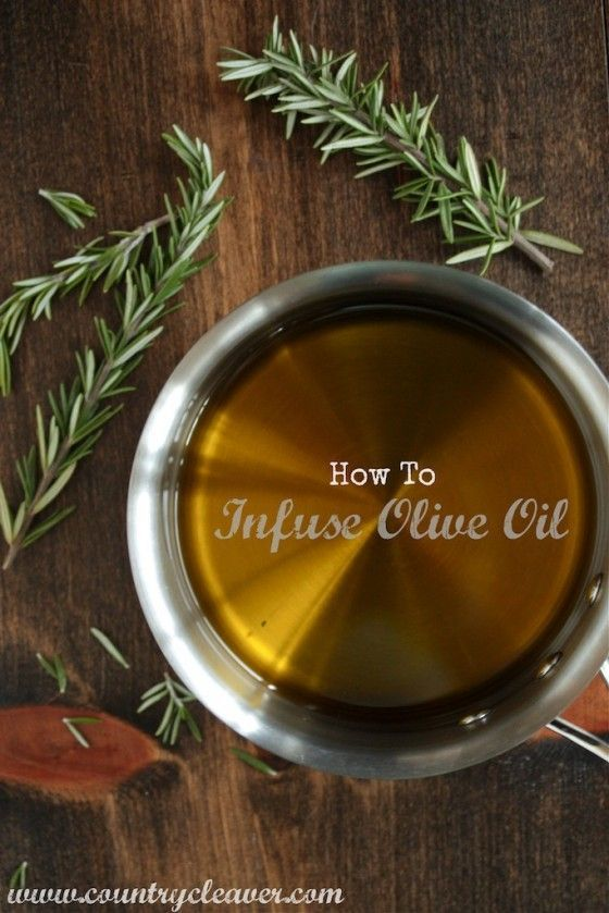 How to infuse olive oil--- doing this right now!