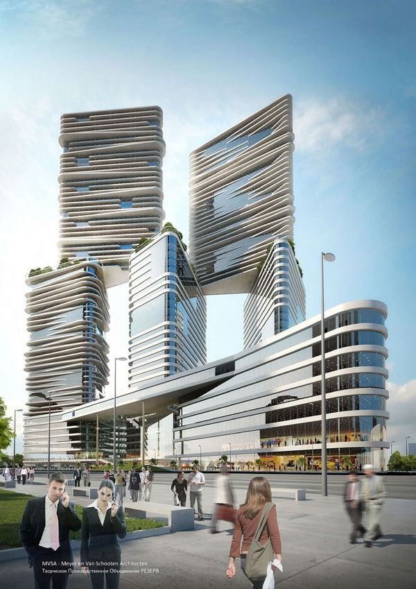 The M-City, Moscow, Russia | Vladimir Plotkin and Roberto Meyer Architects.