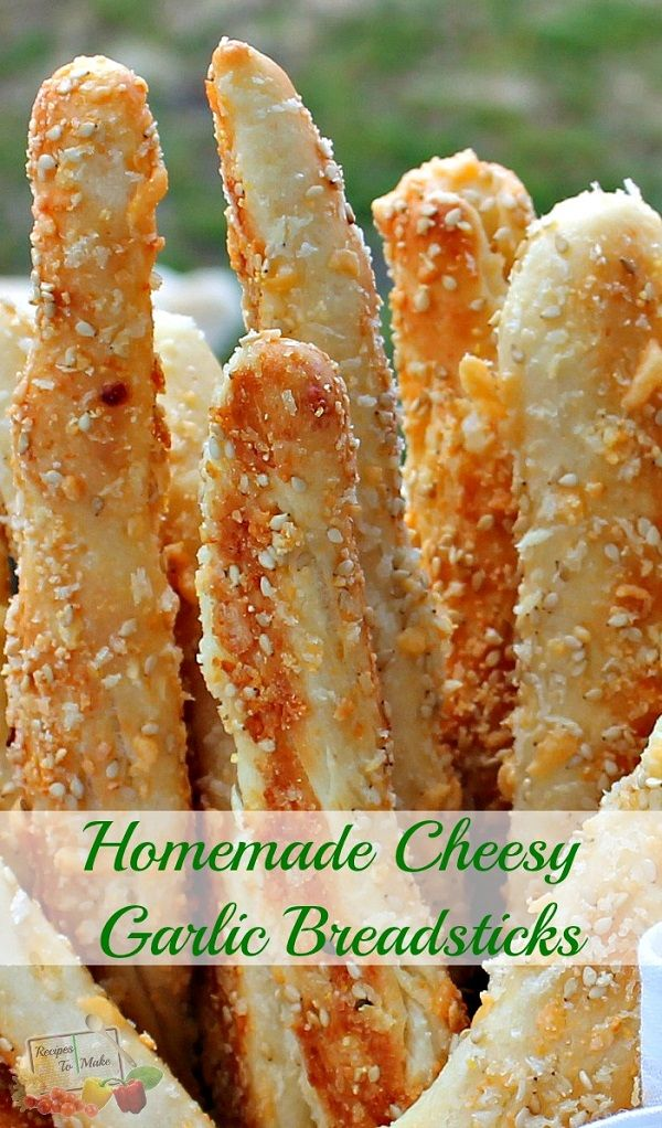 Homemade cheesy garlic breadsticks that are to die for!!