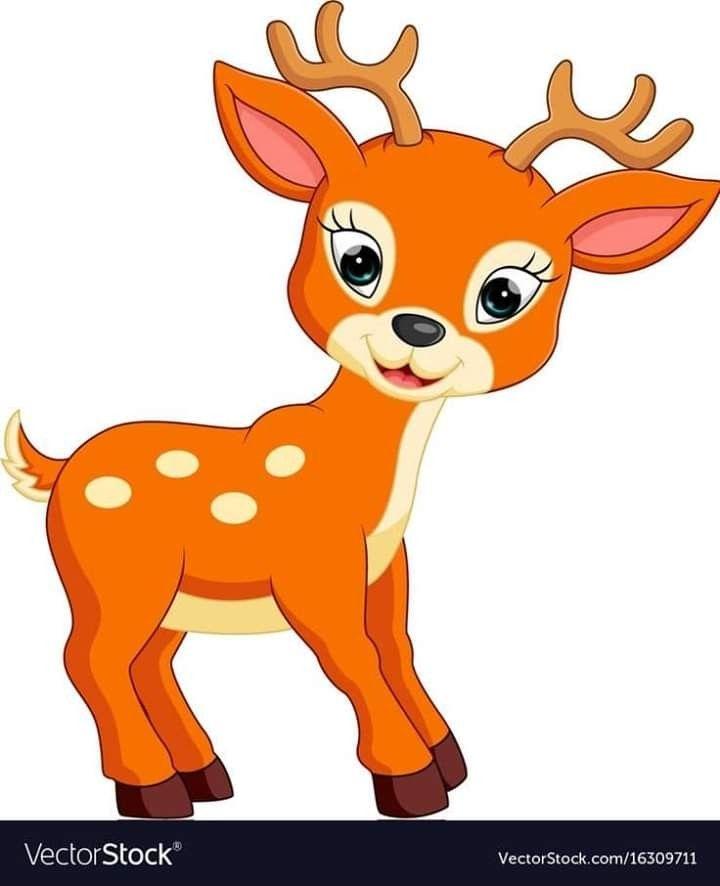 Pin By Karina Cardozo On Animales Deer Cartoon Baby Animal Drawings Cartoon Clip Art