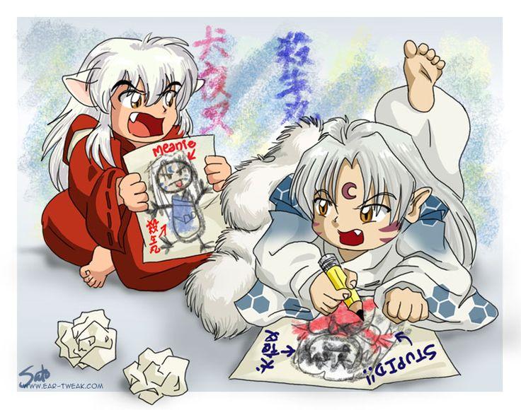 Inuyasha and Sesshomaru as Kids
