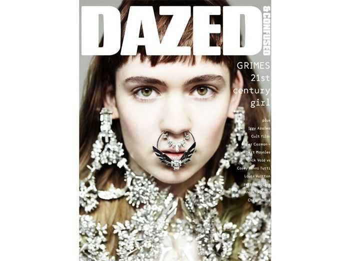 Grimes covers Dazed & Confused's newest issue with a more-is-much-more approach to bling.