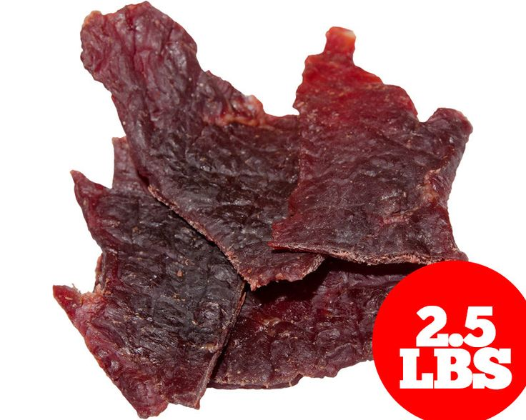 (2.5lb) Bulk Beef Jerky - Cherry Maple Beef Flavor - Thick Cut, Whole Muscle
