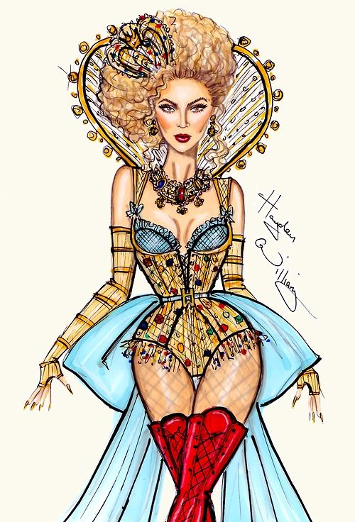 haydenwilliamsillustrations:  Intro: Beyoncé Mrs Carter World Tour collection by Hayden Williams