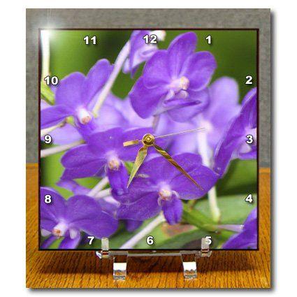 dc_9017_1 SmudgeArt Flower Art Designs - ORCHID - FF - Desk Clocks - 6x6 Desk Clock 3dRose http://www.amazon.com/dp/B004JD91N6/ref=cm_sw_r_pi_dp_MUQbwb1W9JD4S