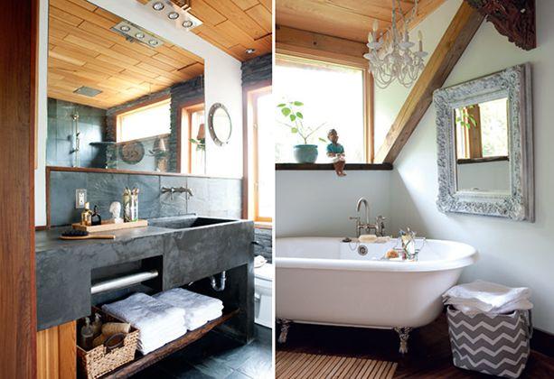 Salle de bains rustique chic d cormag salles de bains for Deco salle de bain rustique