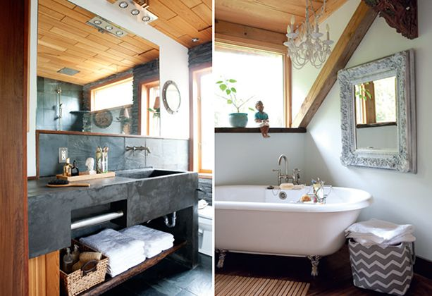 Salle de bains rustique chic d cormag salles de bains for Decormag salle de bain