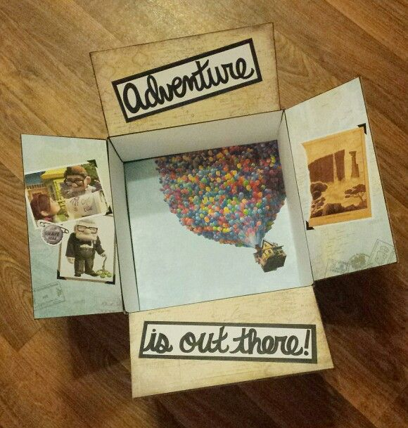 Custom Disney's Up themed Care Package- Adventure is out there! - Etsy Shop - One Day Closer Designs- www.etsy.com/shop/OneDayCloserDesign