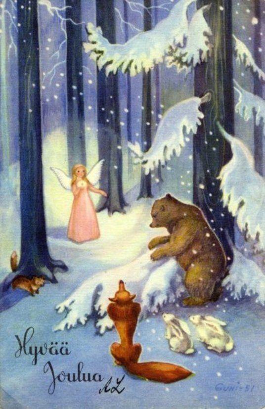 joulukortti Martta Wendelin S