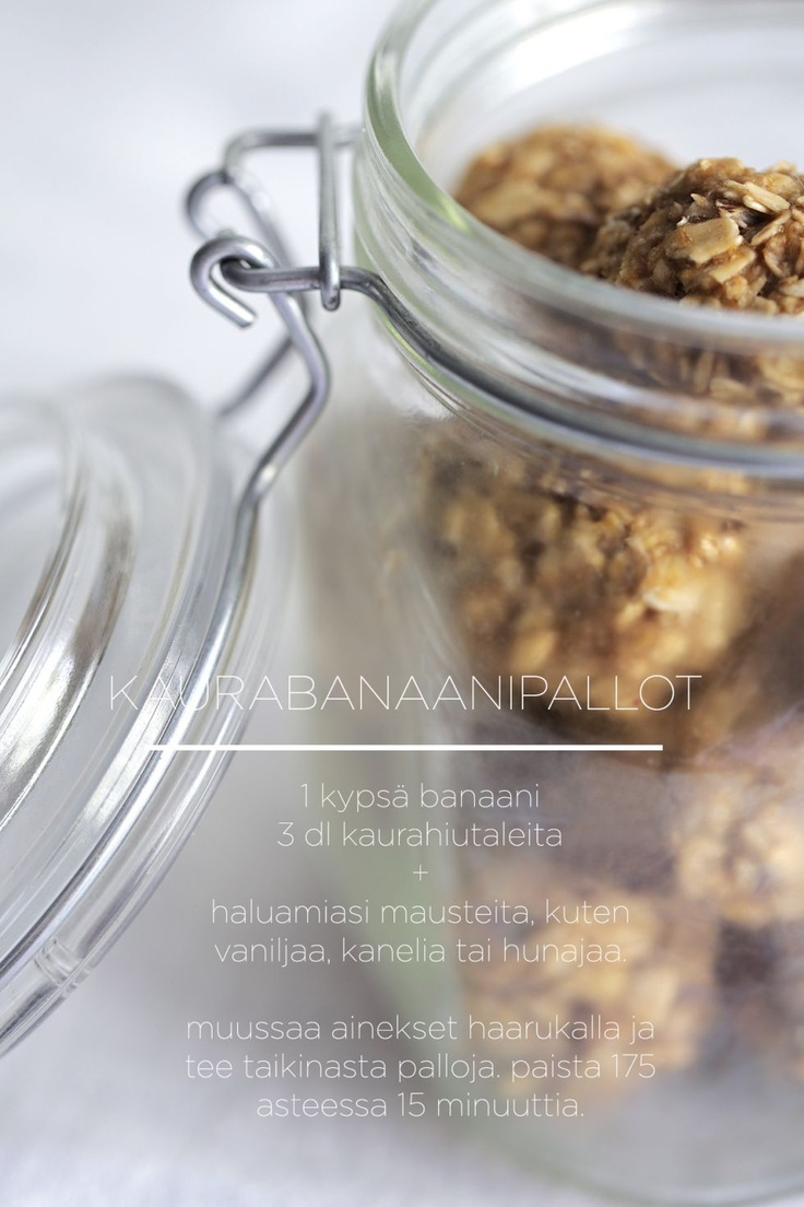 2 ingredient snack - banana and oat meal balls. mash up with a fork, form balls, bake for 15 minutes.