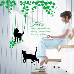 Hot Sale DIY Cat and Girl Art Wall Decor Decals Mural Pvc Wall Stickers Home Decor // FREE Shipping //     Buy one here---> https://thepetscastle.com/hot-sale-diy-cat-and-girl-art-wall-decor-decals-mural-pvc-wall-stickers-home-decor/    #nature #adorable #dogs #puppy #dogoftheday #ilovemydog #love #kitty #kitten #doglover #catlover