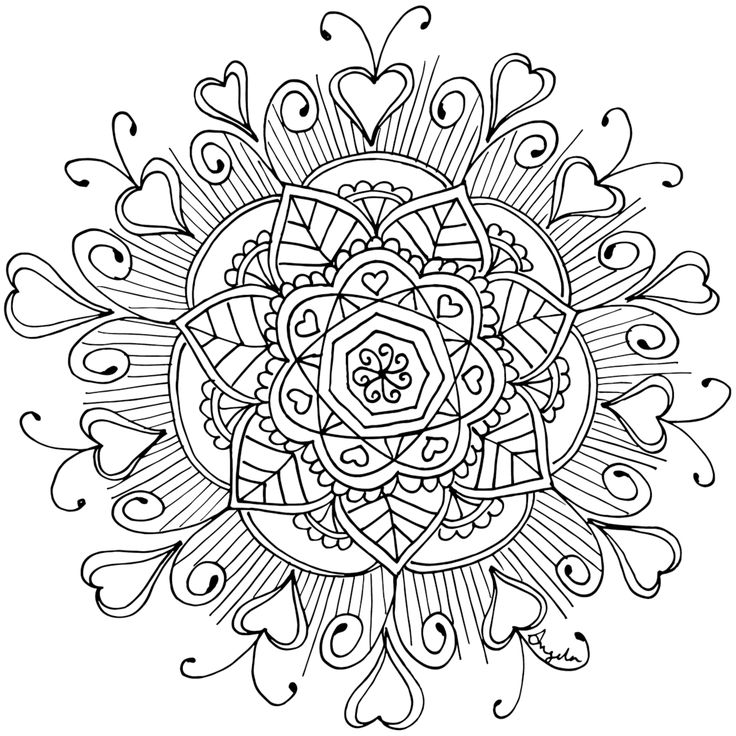 381 best Coloring - Monday Mandalas images on Pinterest Coloring - new elephant mandala coloring pages easy