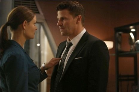 """What will the """"Bones"""" Season 8 finale mean for Booth and Brennan? Will they get engaged? Could they break up? Is Christopher Pelant going to threaten them again? Photos from """"The Secret in the Siege"""" give some hints."""
