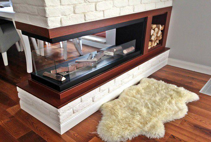 Biokominek Inside U to kominek do zamontowania w przygotowanej wnęce. Znakomicie nadaje się do optycznego rozdzielenia pokoju, np. jadalni i salonu znajdujących się w tym samym pomieszczeniu.