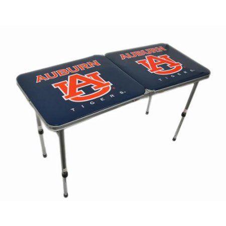 Auburn University Tigers Folding Aluminum Tailgate Table, Multicolor