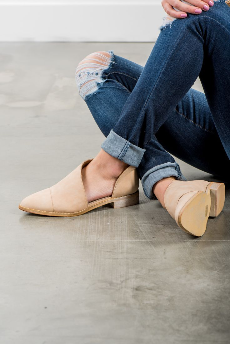 RubyClaire Boutique - The Rae Flats | Beige, $58.00 (https://www.rubyclaireboutique.com/the-rae-flats-beige/) Neutral Flats | Free People | Cut Out Flats | Spring Shoes