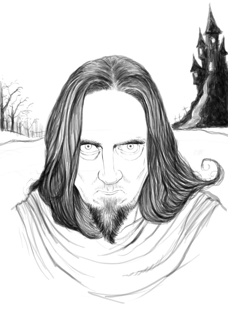 Byron, digital caricature first stage