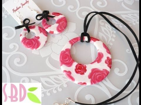 Tutorial Fimo: Parure Fiorita - Polymer Clay Flowered jewelry set